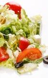 Vegetable salad with feta Stock Photo