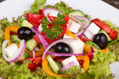 Vegetable salad with feta cheese Stock Photography