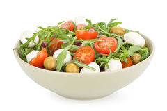 Vegetable salad with feta cheese Stock Photos