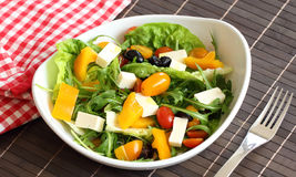 Vegetable salad with feta cheese Royalty Free Stock Photos