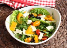 Vegetable salad with feta cheese Stock Images