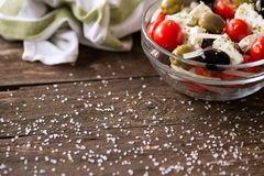Vegetable salad with feta cheese Royalty Free Stock Images