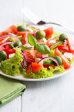 Vegetable Salad with Feta and Green Olives Royalty Free Stock Images