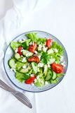 Vegetable salad with feta Royalty Free Stock Images