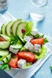 Vegetable salad with feta Stock Photos