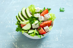 Vegetable salad with feta Stock Images