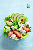 Vegetable salad with feta Royalty Free Stock Photography