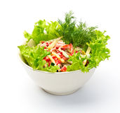 Vegetable salad. With foxberry, chees and pepper Royalty Free Stock Photos