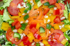 Vegetable salad mixed salad fresh color Stock Photo