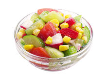 Vegetable salad in a glass bowl Stock Photography