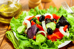 Vegetable salad. Healthy food, close-up Stock Photos