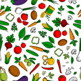 Vegetable salad ingredients seamless pattern Royalty Free Stock Photo