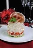 Vegetable salad with jamon Stock Photo