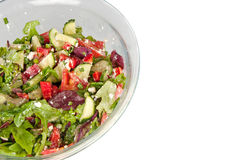 Vegetable salad in a large glass bowl. Vegetable salad in a glass bowl Royalty Free Stock Image