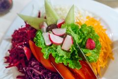 Vegetable Salad macro view stock photo