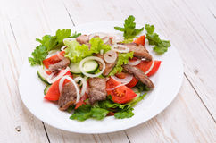 Vegetable salad with meat. Stock Image