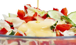 Vegetable salad mix with mayonnaise Stock Images
