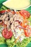 Vegetable salad mixed put tuna Royalty Free Stock Photo
