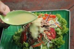 Vegetable salad mixed put tuna Royalty Free Stock Photography