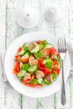 Vegetable salad with mushrooms Stock Photo