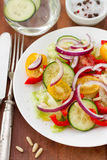 Vegetable salad with nuts Stock Images