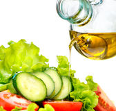 Vegetable Salad with Olive Oil Stock Images