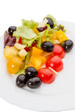 Vegetable salad with olives Stock Photography