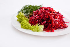 Vegetable salad over white background. High quality image Royalty Free Stock Image