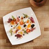 Vegetable salad overhead Stock Image