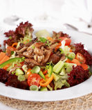 Vegetable salad with oyster mushroom Royalty Free Stock Image