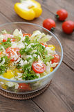Vegetable Salad with parmesan Stock Image