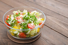 Vegetable Salad with parmesan Royalty Free Stock Photo