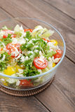 Vegetable Salad with parmesan Stock Photo