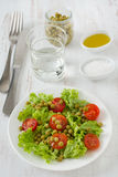 Vegetable salad with peas Stock Photos