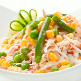 Vegetable salad with peas bean Royalty Free Stock Photo
