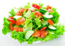 Vegetable salad on plate Royalty Free Stock Images