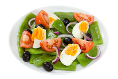 Vegetable salad on the plate Royalty Free Stock Photos