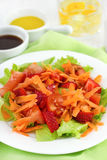 Vegetable salad in the plate Stock Photo