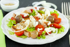 Vegetable salad on plate Royalty Free Stock Photography