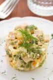 Vegetable salad on plate Stock Photos