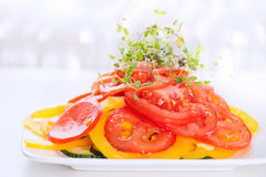 Vegetable salad on plate Royalty Free Stock Image