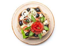 Vegetable salad in plate Royalty Free Stock Photos