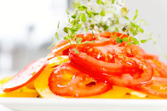 Vegetable salad on plate Stock Images