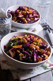 Vegetable salad with raisins Royalty Free Stock Photos