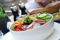 Vegetable salad in restaurant Royalty Free Stock Photos