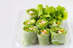 Vegetable salad rolls. Royalty Free Stock Photos