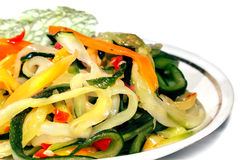 Vegetable salad on saucer Royalty Free Stock Photo