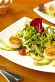 Vegetable salad with scallops Stock Photo