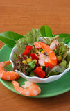 Vegetable salad with seafood Royalty Free Stock Images