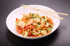 Vegetable salad with seafood Stock Image